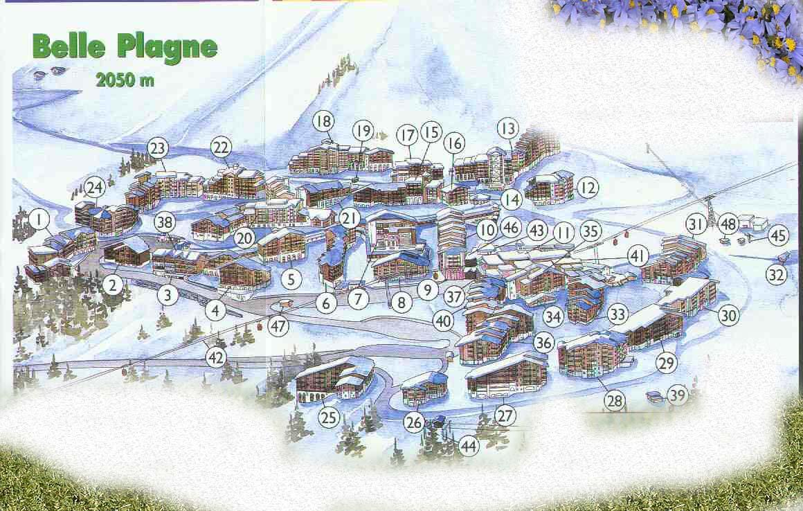 Plagne street map